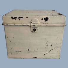 English Painted Tin Document Box
