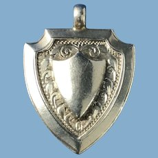 Double-Sided English Sterling Silver Award Watch Fob