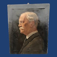 19th Century English Portrait of Man Oil on Canvas