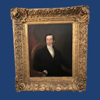 Victorian Oil on Board Portrait Painting of an English Gentleman c.1840