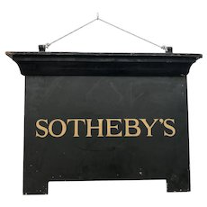C.1940 Sotheby's Iron Sign