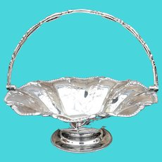 Silver Plate English Bride's Basket