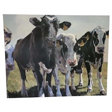 "Oil Painting ""Dairy Line Up"" by Heather Foster"
