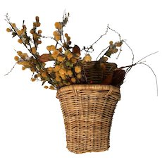Hanging Wicker Basket for Flowers or Wine