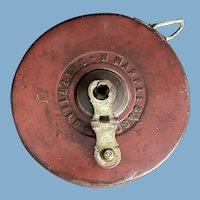 English Wind Up Leather Measuring Tape, Marples & Sons, Sheffield