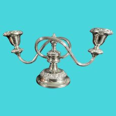 Ianthe of England Silver Plate Two-Arm Candle Stand C.1950