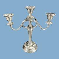 Ianthe of England Silver Plate Three-Arm Candelabra C.1950