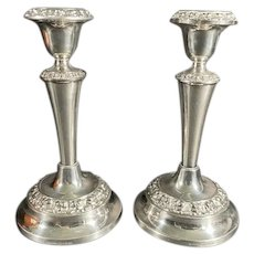 IANTHE of England Pair of Silver Plated Candle Sticks
