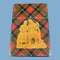 English/Scottish Tartan Ware Calling Card Case
