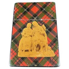 English/Scottish Tartan Ware Calling Card Case