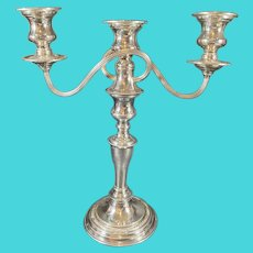 Candelabra Presentation Plate Silver on Copper