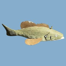 Hand-Carved Painted Fish Decoy