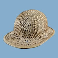 Vintage Rattan Hard British Safari Hat