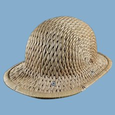 Vintage Rattan Hard British Safari Hat