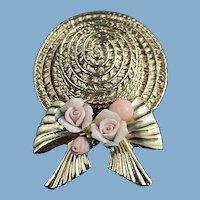 Easter Bonnet Pin & Flowers