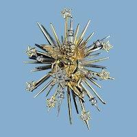 Vintage Star Burst Brooch