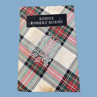 Tartan Covered Book, Songs from Robert Burns, 1759-1796