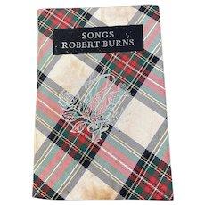 Tartan Covered Book, Songs from Robert Burns, 1759-1796
