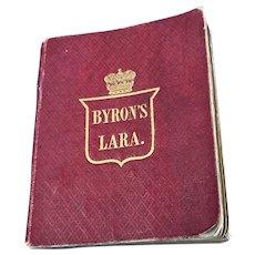 Miniature Leather Bound Book of Byron's Lara