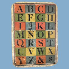 Letters of the Alphabet on 9.5 x 13.5 Cardboard