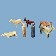 7 Farm Figurines, Animals and People