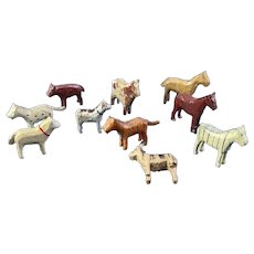 10 English Wood Farm Animals