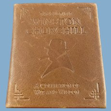 Leather Bound Miniature Book: The Quotable Winston Churchill: A Collection of Wit and Wisdom