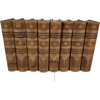 The Waverley Novels, The Works of Sir Walter Scott, 8 Volumes, Leather Bound