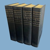 Abraham Lincoln: The War Years in 4 Volumes by Carl Sandburg, 1939
