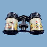 Child's English Hunt Scene Vintage Binoculars