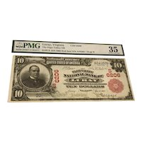 Luray Virginia Page Valley $10 National Bank Note Red Seal 1902 PMG 35 Very Fine