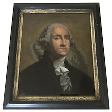 William Matthew Prior Portrait of George Washington Reverse Glass Painting
