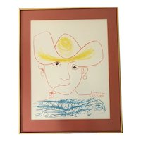 "Pablo Picasso (1881-1973) ""Young Spanish Peasant"" Lithograph Print"
