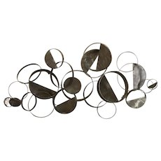 Curtis Jere (20th/21st C) Stainless Steel Floating Rings Wall Sculpture