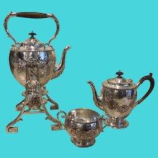 Antique Dutchess of Sutherland's Cripples Guild (D.S.C.G) Silver-Plated Tea Set