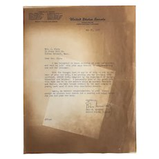 Senator JFK (John F Kennedy) Signed Typed Letter 1956 on Infant Care
