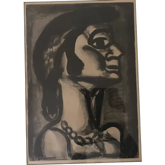 "Georges Rouault (1871-1958) ""En Bouche Qui Fut Fraiche"" Aquatint Print"