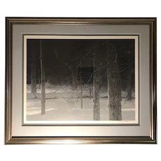 "Robert Bateman (1930) ""Midnight - Black Wolf"" Lithograph Print"