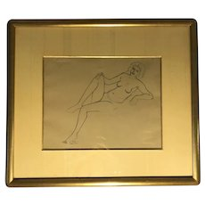 "Andre Derain (1880-1954)"" Portrait of a Nude Lady Pencil / Graphite Drawing"