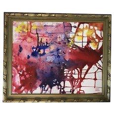 Ruth Light Braun (1906-2003) Abstract Mixed Media on Masonite Painting