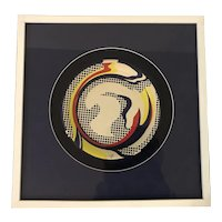 "Roy Lichtenstein (1923-1997) ""Paper Plate"" Screenprint on Paper Plate"