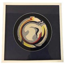 "Roy Lichtenstein (1923-1997) ""Paper Plate"" Screenprint on Paper Plate"