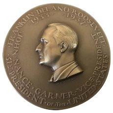 President Franklin Roosevelt (FDR) Bronze Inaugural Medal 1933