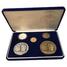 President George Bush lnaugural / Inauguration Five Medal & Coin Set 1989