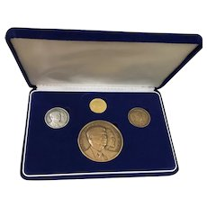 President Ronald Reagan Second lnaugural / Inauguration Medal & Coin Set 1985