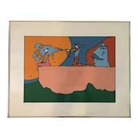 "Peter Max (1937) ""Giving the Light"" Serigraph Print"