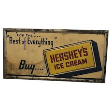 Rare Vintage Best of Everything Buy Hersey's Ice Cream Metal Advertising Sign