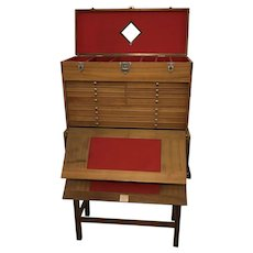 H. Gerstner Sons Machinists Tool Chest / Cabinet Stacking 12/8 Drawers on Stand