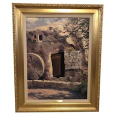 "Thomas Kinkade ""The Garden Tomb"" Impressions of Israel Lithograph Print on Canvas"