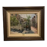 "Thomas Kinkade as Robert Girrard ""Sunlit Garden"" Lithograph Print on Canvas"